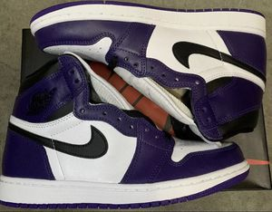 "Jordan 1 high ""court purple"" size 9 for Sale in ONIZUKA Air Force Base, CA"