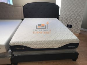 Brand New Full Size Grey Upholstered Bed Frame for Sale in Silver Spring, MD