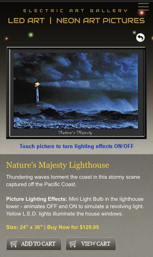 New Electric Gallery Framed Light-up Nature's Majesty Wall Decor for Sale in San Diego, CA