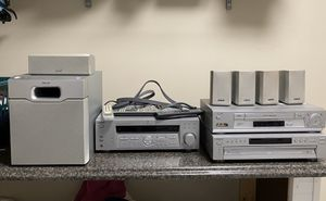 Sony 100 watt surround sound receiver with subwoofer, vcr and 6 dvd changer for Sale in Berea, KY