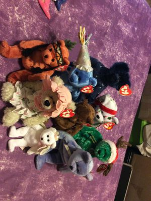 beanie baby with tags quantity 9 for Sale in Fresno, CA