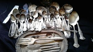 Vintage name brand mix & match silver plate silverware for Sale in Rancho Cordova, CA