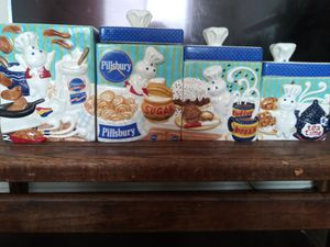Philsbury Dough Boy Glass Kitchen set ! for Sale in Columbus, OH