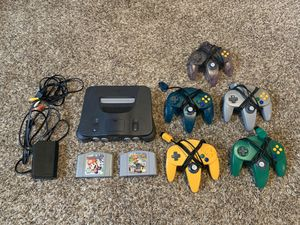 N64 w/ 2 games and 5 controllers for Sale in Beaverton, OR