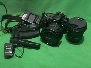 Nikon 7100 with 2 lenses wireless remote 2 batteries and dual bay charger for Sale in Bellevue, WA