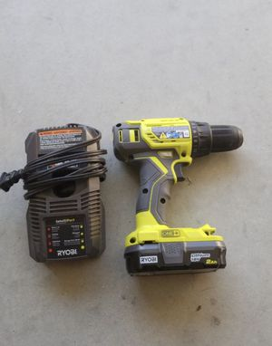 Ryobi 18v drill $60 Includes battery and charger for Sale in Norco, CA