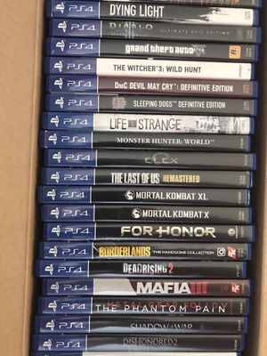 PS4 Game $25-$30 Each for Sale in Pittsburg, CA