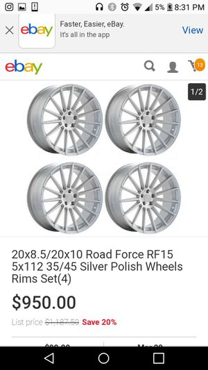 "20"" Wheels and Tires 5x112 Mercedes-Benz,Audi,Volkswagen,etc. In good condition for Sale in Fort Washington, MD"