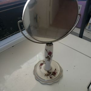 "Vintage 12"" Pedestal Table Mirror- Porcelain Japan for Sale in Long Beach, CA"