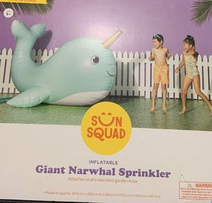 Brand New Giant Narwhal Sprinkler for Sale in Wethersfield, CT