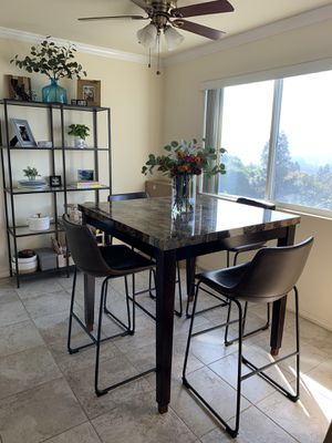 Granite (Imitation) High Top Kitchen Dining Table Dark Wood (Does NOT include chairs) for Sale in San Diego, CA
