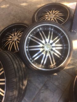 """20"""" rims 5 lug 5x114 new tires for Sale in Jurupa Valley,  CA"""