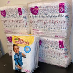 Parents Choice Size 6 pampers and Cuties essential for Sale in Downey,  CA