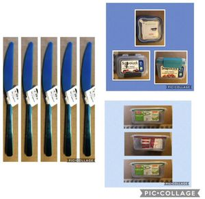 Lot food storage and butter knives for Sale in Merrimac, MA