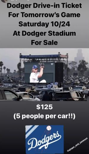 Dodgers stadium ticket World Series drive in for Sale in City of Industry, CA