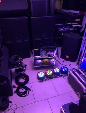 4 pack led wash new conditions dj lights for Sale in Phoenix, AZ
