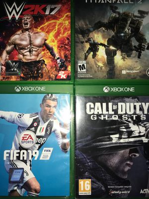Xbox Games - Titanfall2, WWE 2k17, Fifa19, & COD ghosts for Sale in Galt, CA
