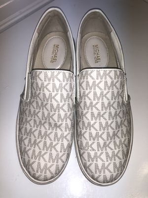 Michael Kors Keaton Logo-Print Slip-On Sneaker Tennis Shoes Size 7 for Sale in Boca Raton, FL