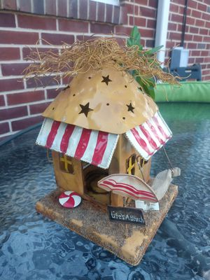 Metal Unique Beach Shack Tealight Holder for Sale in Hanover, PA