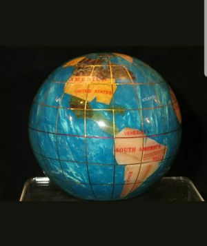 GENUINE MULTI -GEMSTONE GLOBE PAPER WEIGHT IN TURQUOISE . for Sale in Mesa, AZ