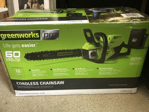 Green works Pro chainsaw for Sale in Brooksville, FL