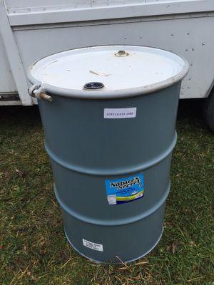 55 Gallon Metal Barrels with lids - food grade for Sale in Grosse Pointe Park, MI