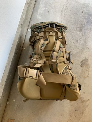 Military back pack with sleeping bags for Sale in Murrieta, CA