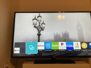 Samsung TV (Smart);65inch; Used-Like New- With TV stands and with a small table for Sale in Columbia, MO