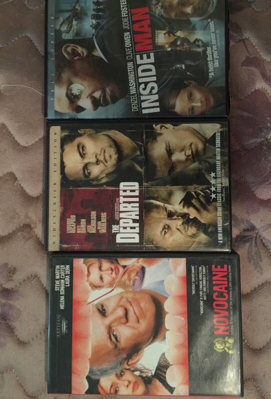 3 DVDs for 5$ pick up only