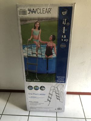 Bestway 36in Steel Ladder 58334E | Made for Above Ground Swimming Pools for Sale in Garland, TX