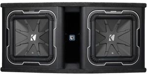 """Kicker Q-Class 41DL7122 Ported enclosure with two L7 Series 12"""" subwoofers for Sale in Portland, OR"""