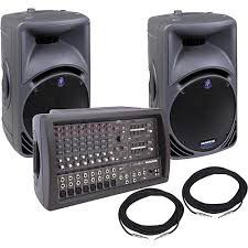 ¥¥ Complete Mackie / RCF Sound System - Mixer / Amplifier and 2 Speakers for Sale in New York, NY
