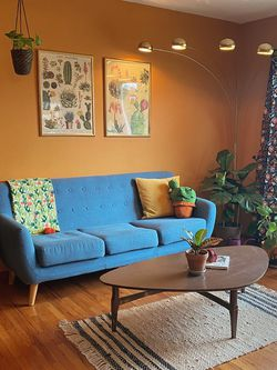 Blue Mid Century Modern Couch for Sale in Whittier,  CA