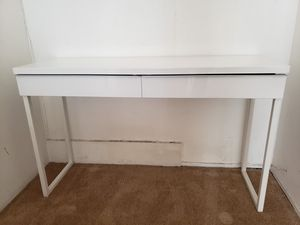 "2-Drawer Console Table White High Gloss/Lacquer 47"" Wide for Sale in West Hollywood, CA"