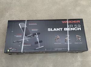 Weider XR 5.9 Slant Bench Weight Gym NEW for Sale in Columbus, OH