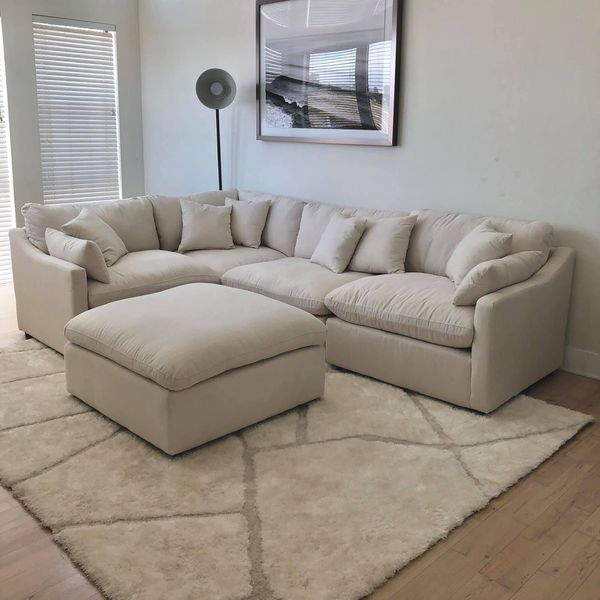 Restoration Hardware Style Cloud Sectional Sofa Couch