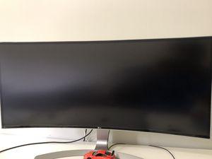 "LG 34CB99-W 34"" Class UltraWide WQHD IPS Curved LED Monitor for Sale in Atlanta, GA"