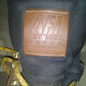 Nike Size 9 AF1 Sneaker Boot Work Boot Almost No Tread Wear No Cuts Tears Or Rips Just Dirty for Sale in Pine Hill, NJ