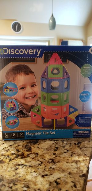 Magnet Building Tiles, Magnetic 3D Building Blocks Set for Kids, Magnetic Educational Stacking Blocks Boys Girls Toys for Sale in San Antonio, TX