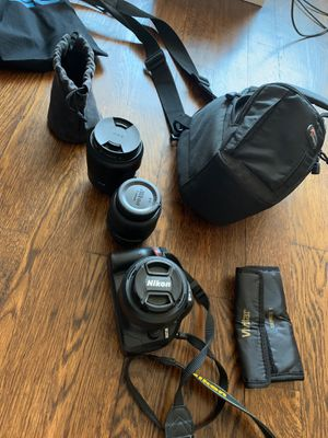 Nikon D5200 Kit + Accessories for Sale in Brooklyn, NY