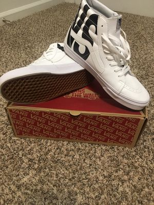 SK8-Hi Vans Classic Tumble (White) for Sale in Eugene, OR