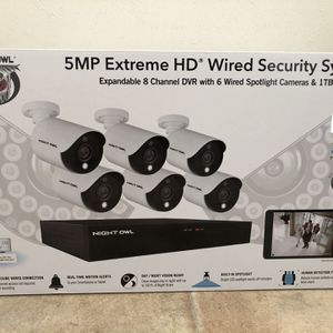 Brand New Night Owl CCTV Video Home Security Camera System with 6 Wired 5MP HD Indoor/Outdoor Camera for Sale in Portsmouth, VA