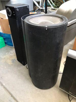 10 inch Passive Bazooka Tube with Polk Speaker for Sale in Fresno, CA
