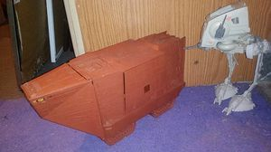 Vintage Star Wars Jawa Sandcrawler & Star Wars AT-ST for Sale in Castro Valley, CA