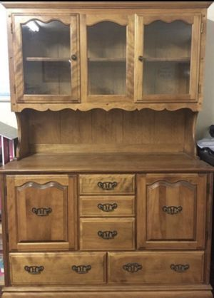 Solid Wood Antique China Cabinet. for Sale in Anaheim, CA