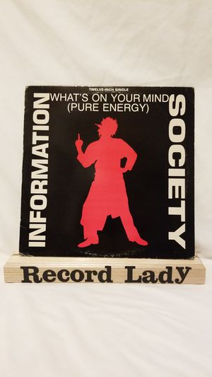 """Information Society """"What's On Your Mind"""" (Pure Energy)vinyl record synth-pop/ new wave for Sale in San Diego, CA"""