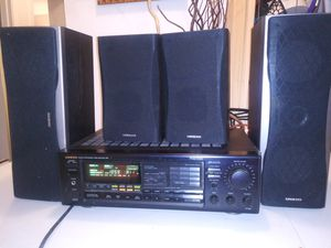 Onkyo quartz synthesizers tuner amplifier and speakers great sound!! for Sale in Union Park, FL