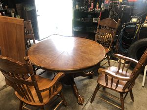Hardwood kitchen table for Sale in Indianapolis, IN