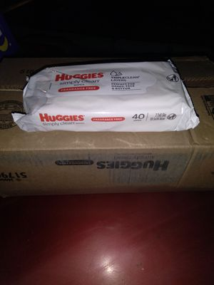Huggies simply clean wipes for Sale in Edwardsville, PA