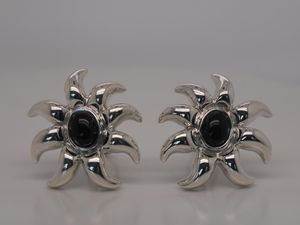 Tiffany & Co. Vintage Black Onyx Sun Earrings for Sale in Farmers Branch, TX